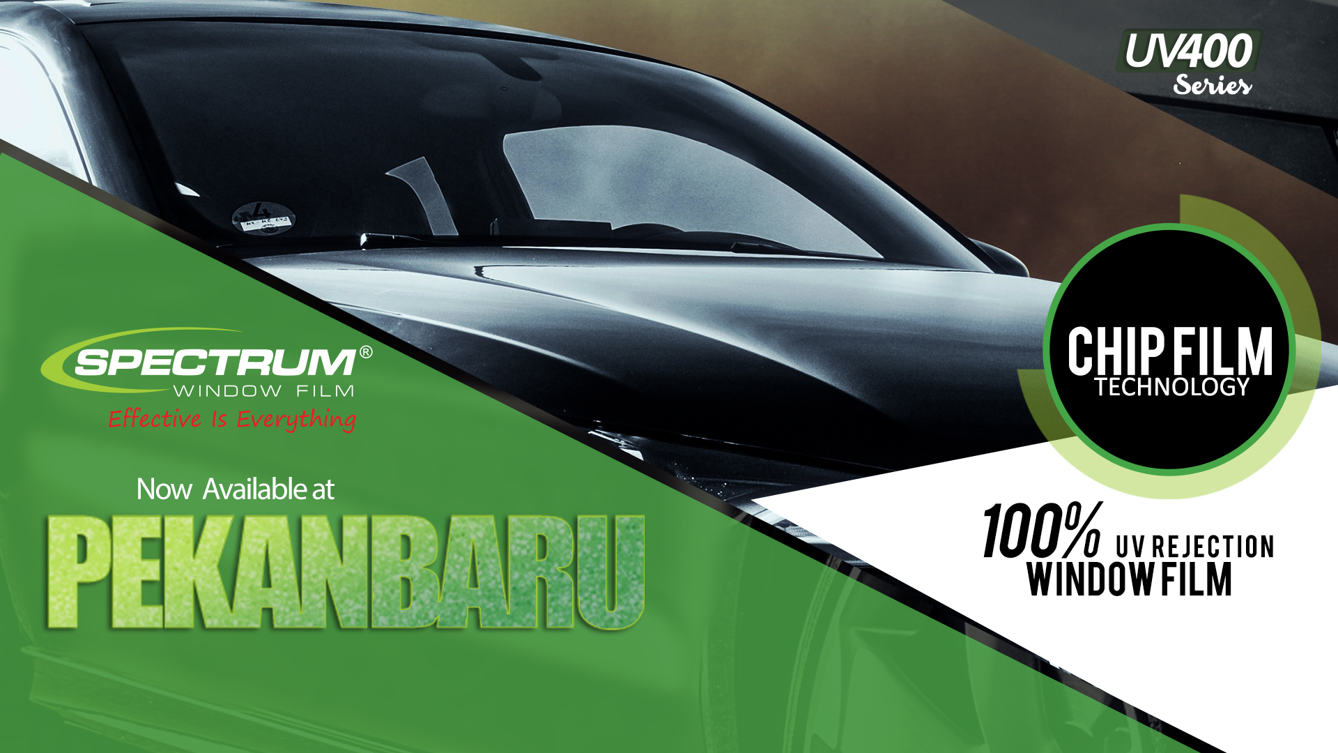 Now available! UV400 series dari Spectrum Window Film